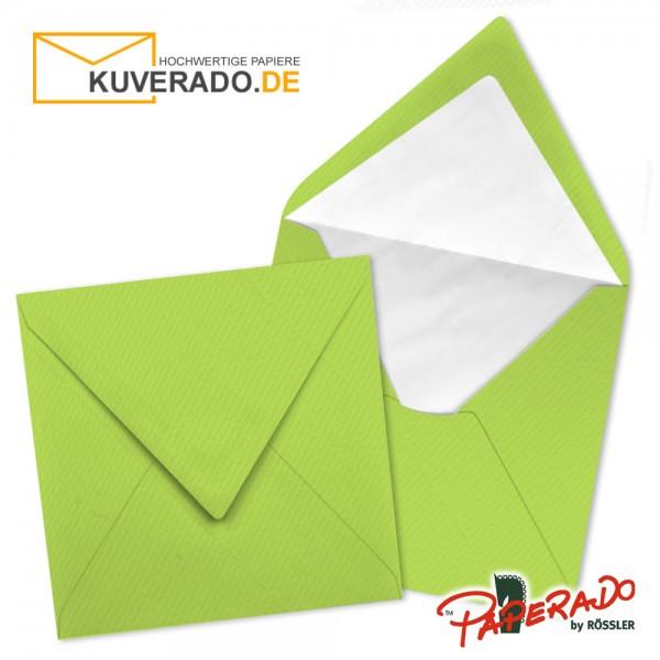 Paperado quadratische Briefumschläge in maigrün 164x164 mm