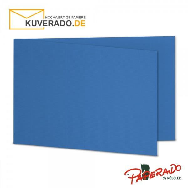 PAPERADO - Beige Doppelkarten der Extraklasse. Diese hochwertigen Faltkarten für das Format DIN B6 ( offen: 338 x 120 mm / geschlossen: 169 x 120 mm ) sind mit einer fein gerippten Oberfläche versehen und fügen sich so perfekt in die Briefumschläge DIN B6