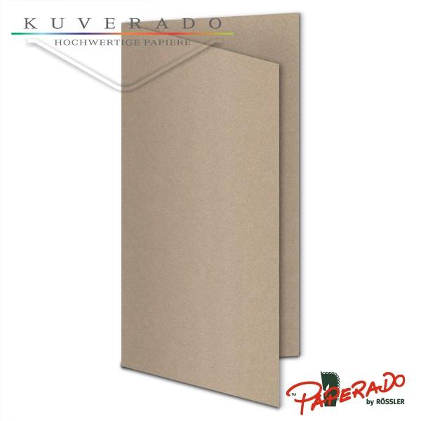 Paperado Karten in taupe grau metallic DIN lang