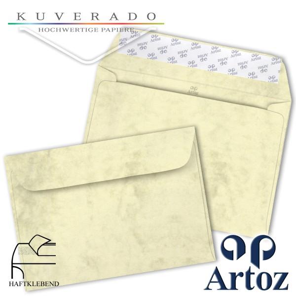 Artoz Antiqua marmorierte Briefumschläge chamois DIN C6