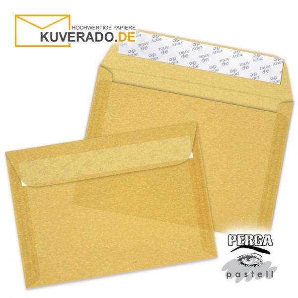 Artoz transparente Briefumschläge gold DIN C6