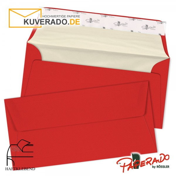 Paperado - Rote Briefumschläge in DIN lang