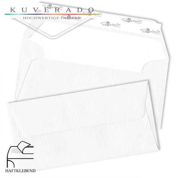 Paperado Briefumschläge DIN lang classic-rib weiss