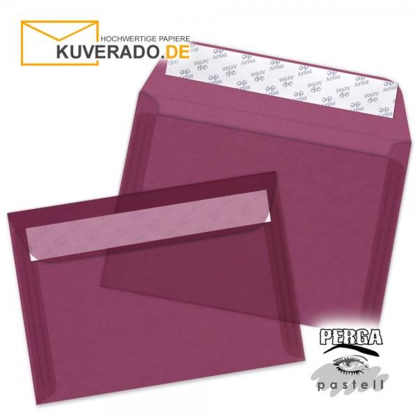 Artoz transparente Briefumschläge bordeaux DIN B6