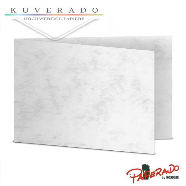 Paperado Karten in grau marmoriert DIN B6 Querformat