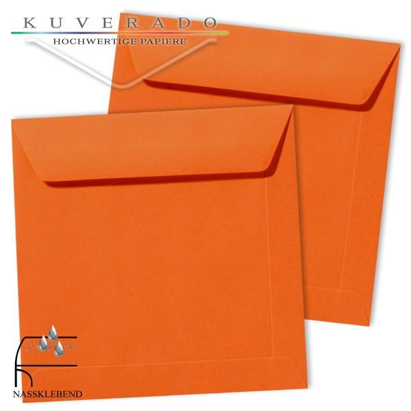 orange Briefumschläge im Format quadratisch 170x170 mm