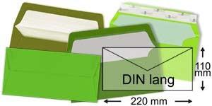 110x220 mm (DIN lang)   grün