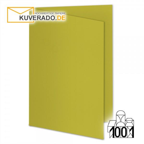 Artoz1001 Faltkarten kiwigrün DIN A6 mit Wasserzeichen