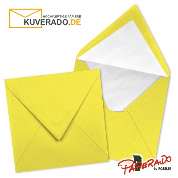 Paperado quadratische Briefumschläge in soleilgelb 164x164 mm