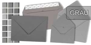 Graue Briefumschläge