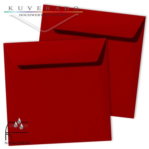 rote Briefumschläge im Format quadratisch 190x190 mm