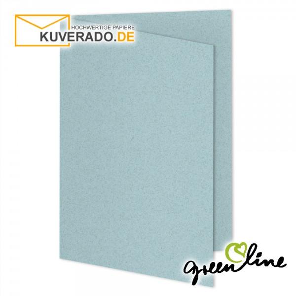 ARTOZ Greenline pastell | Recycling Faltkarten in misty-blue DIN A5
