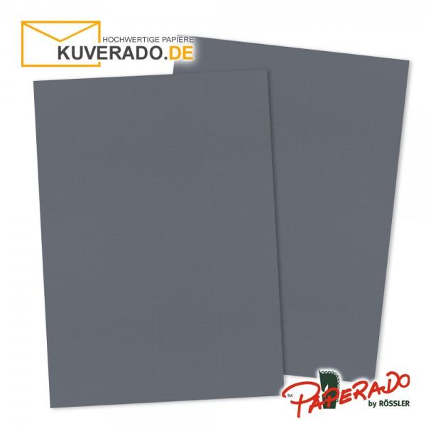 Paperado Briefkarton in schiefergrau DIN A4 220 g/qm