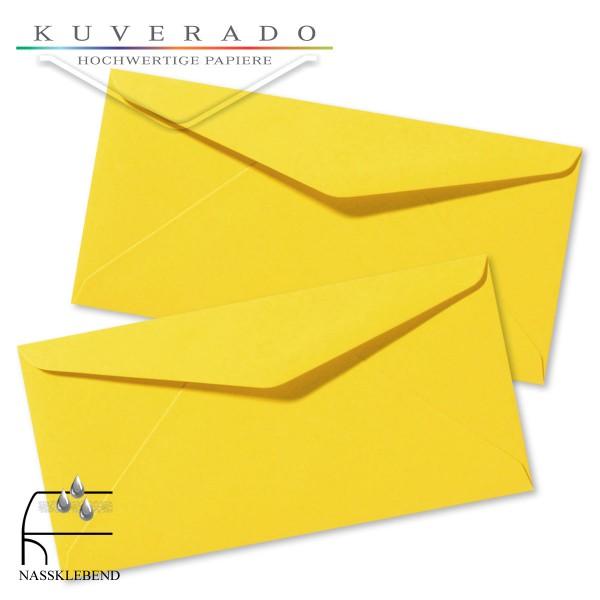 gelbe Briefumschläge im Format DIN lang