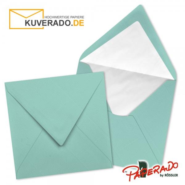 Paperado quadratische Briefumschläge in karibikblau 164x164 mm