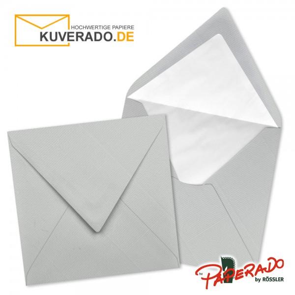Paperado quadratische Briefumschläge in eisgrau 164x164 mm