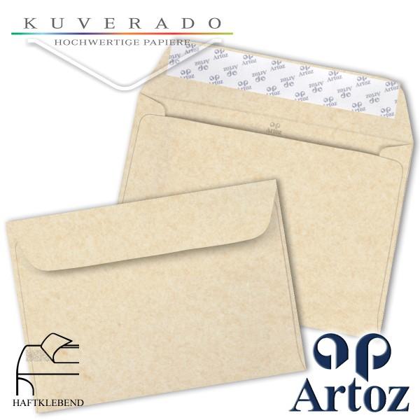 Artoz Rustik marmorierte Briefumschläge weiß DIN C5