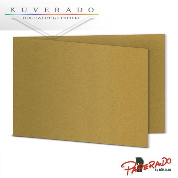 Paperado Karten in gold DIN B6 Querformat