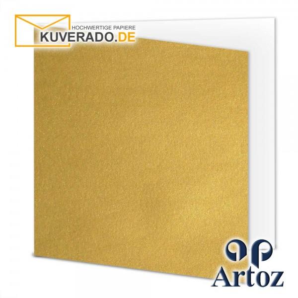 Artoz Mosaic metallic Faltkarten in gold quadratisch