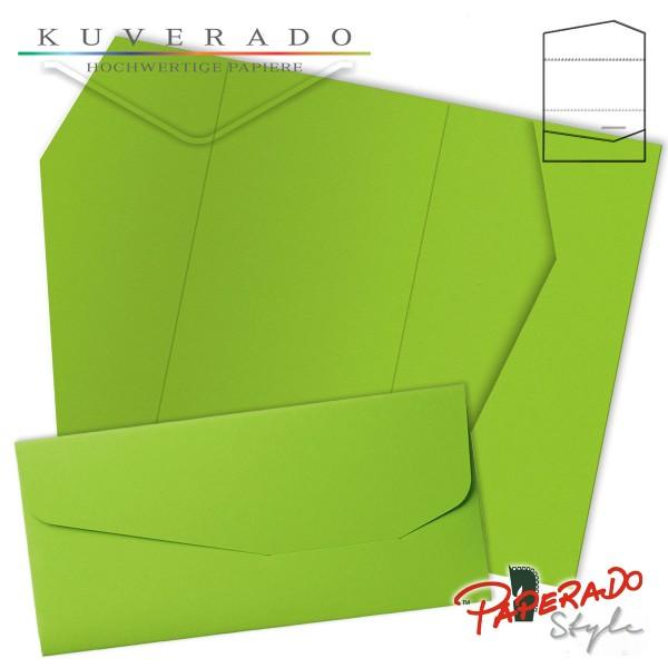 PAPERADO Style - Karte mit Einstecktasche in maigrün