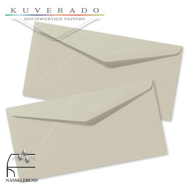 Graue Briefumschläge (Delfingrau) im Format DIN lang
