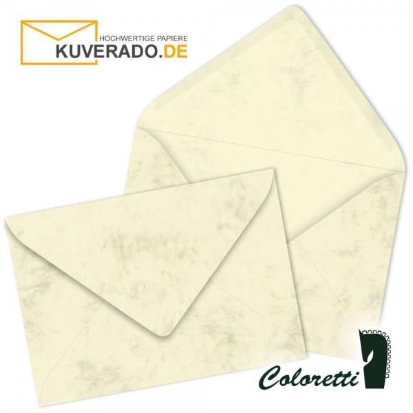 Beige DIN B6 Briefumschläge in chamois von Coloretti