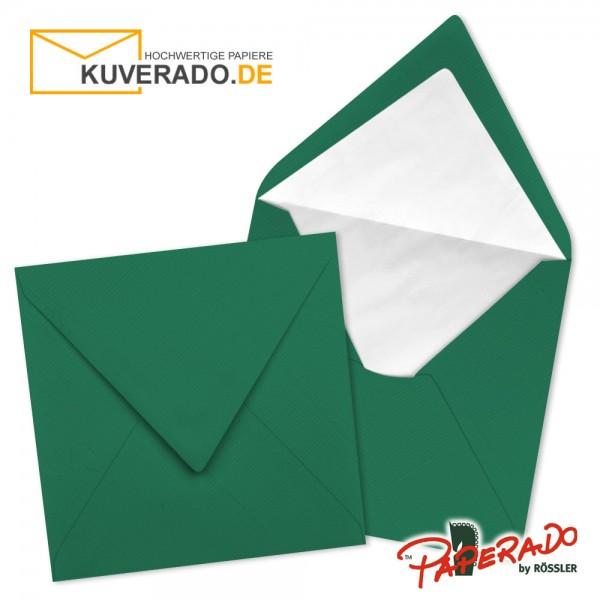 Paperado quadratische Briefumschläge in tannengrün 164x164 mm