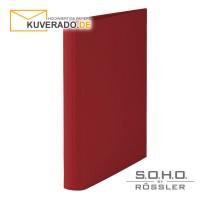 "S.O.H.O. Ringbuch mit 25mm Füllhöhe in der Farbe ""rot"""