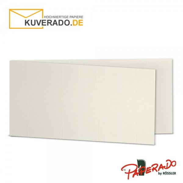 Paperado Karten in ivory beige DIN lang Querformat