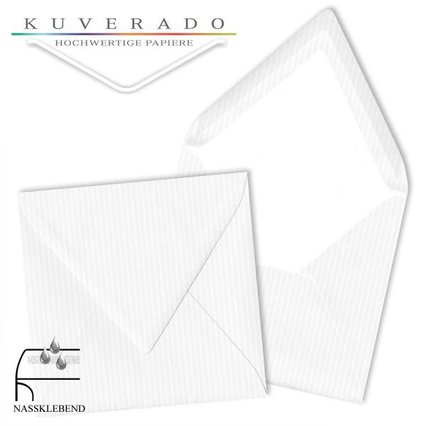 Paperado quadratische Briefumschläge in classic-rib weiß 164x164 mm