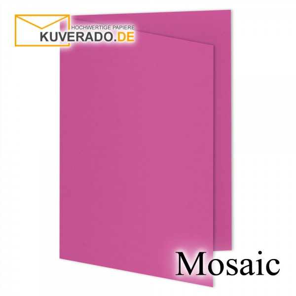 Artoz Mosaic fuchsia Doppelkarten DIN A6