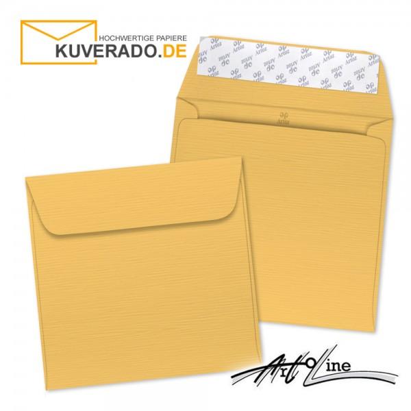 Artoz Artoline Briefumschlag in sandgold-orange quadratisch