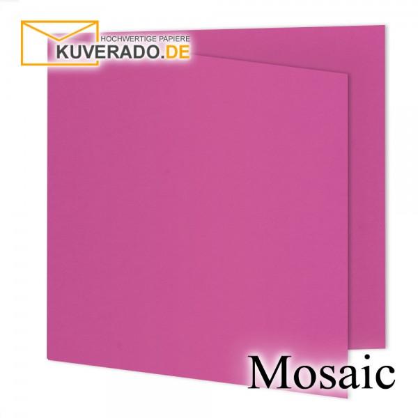 Artoz Mosaic fuchsia Doppelkarten quadratisch
