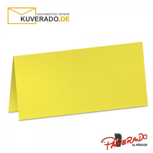 Paperado Tischkarten in soleilgelb