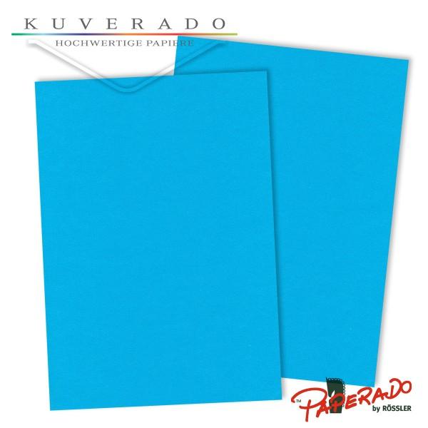 Paperado Briefkarton in pacific-blau DIN A4 220 g/q