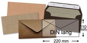110x220 mm (DIN lang)   braun