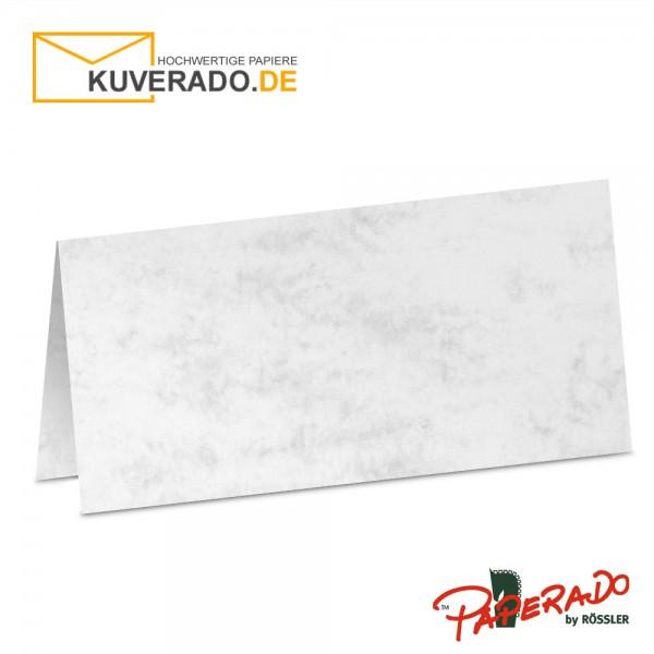 Paperado Tischkarten in grau marmoriert