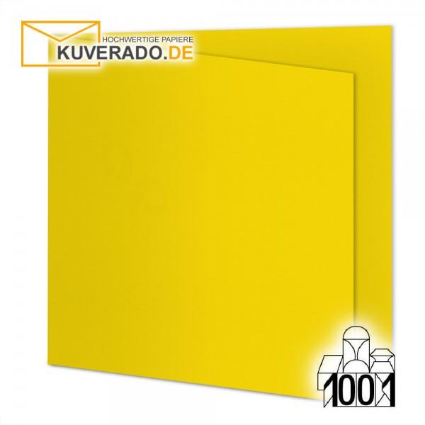 Artoz 1001 Faltkarten sonnengelb quadratisch 155x155 mm mit Wasserzeichen