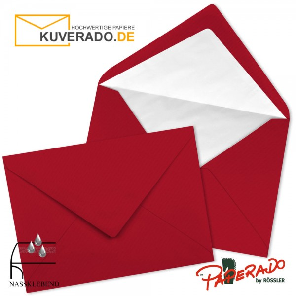 Paperado Briefumschläge in rot DIN C7