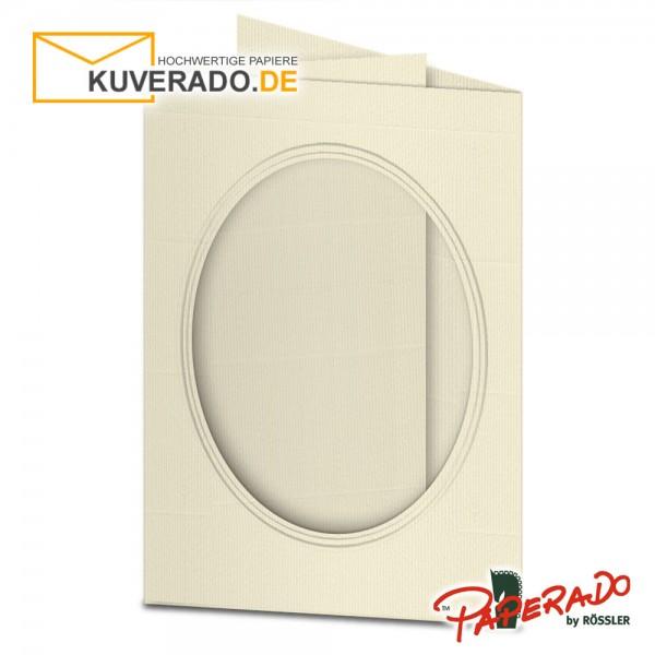 Paperado Passepartoutkarten mit ovalem Ausschnitt in chamois DIN B6
