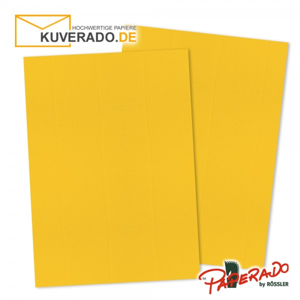 Paperado Briefkarton in ocker orange DIN A4 220 g/qm