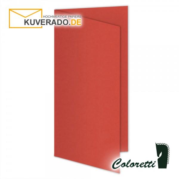 Rote Doppelkarten in klatschmohn 220 g/qm von Coloretti