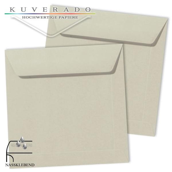 Graue Briefumschläge (delfingrau) im Format quadratisch 190x190 mm