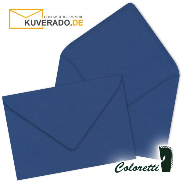 Jeansblaue DIN C6 Briefumschläge von Coloretti