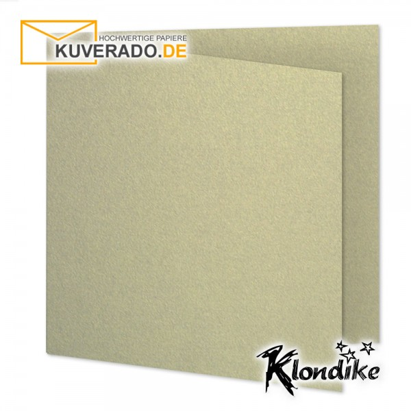 Artoz Klondike Karten in blattgold-metallic quadratisch