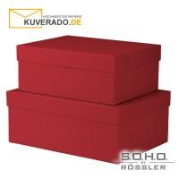 """S.O.H.O. Geschenkschachteln, 2er-Set in der Farbe """"rot"""""""