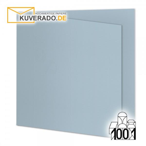 Artoz 1001 Faltkarten pastellblau quadratisch 13x13 cm mit Wasserzeichen