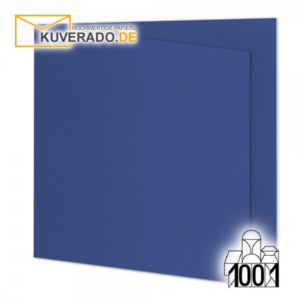 Artoz 1001 Faltkarten royalblau quadratisch 155x155 mm mit Wasserzeichen