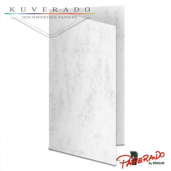 Paperado Karten in grau marmoriert DIN lang