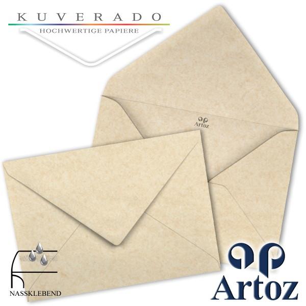 Artoz Rustik marmorierte Briefumschläge weiß DIN E6